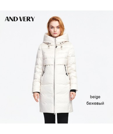 2019 Winter new arrival women down jacket high quality hooded thick cotton long warm windproof with zipper 9851 - beige S1 -...