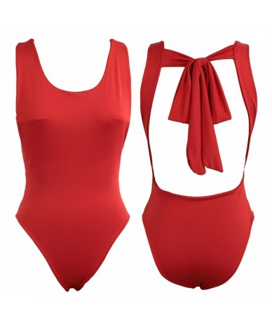 Sexy Bodysuit Women Sleeveles Playsuit Backless Summer Bodycon Jumpsuit Short Rompers Womens Jumpsuit Club Body Femme - Red ...
