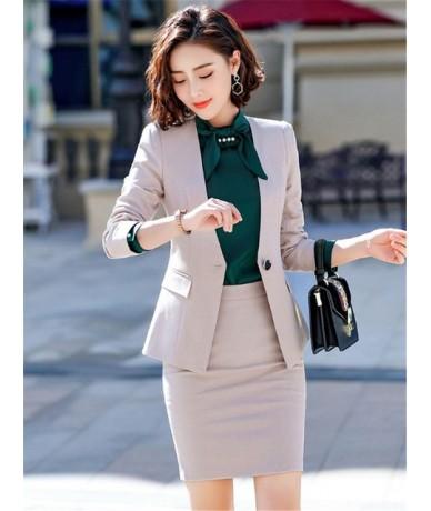 Women Suit Office Uniform New Spring Autumn Slim Fashion Long Sleeve Single Button Blazer And Trouser Set Femininas Ds50392 ...