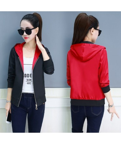 2019 Spring summer female short jacket wild long-sleeved women's sweater baseball shirt sunscreen clothes jacket NS4209 - re...