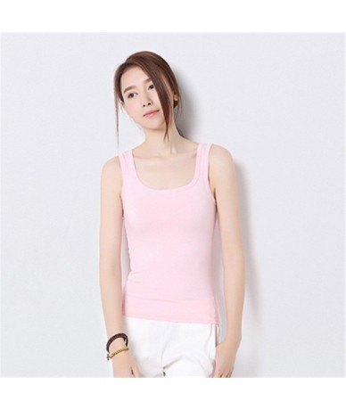 New Fashion Sexy Women Candy Color T-Shirt Girls O-neck Sleeveless Tees Shirts Summer Casual Vest Tops Plus Size S-XXXXL - P...