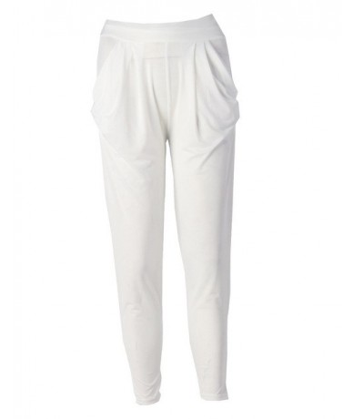 Candy Color Ladies Fashion Slim Casual Harem Baggy Dance Sweat Pants Trousers - White - 473978290591-13