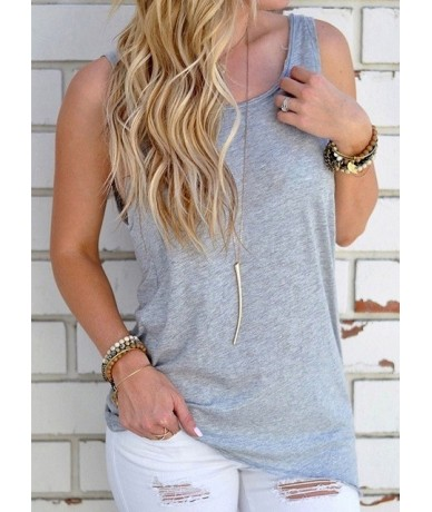 2019 New Arrival Summer Women Sexy Sleeveless Backless Shirt Knotted Tank Top Blouse Sexy Vest Tops Tshirt Open Back t shirt...