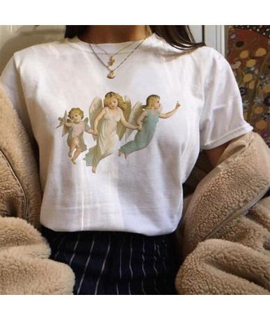 You Can't Sit With Us Three Angels Shirt Harajuku Funny Vogue T Shirt Women Summer Casual Fashion Kawaii Cartoon Angel Tops ...
