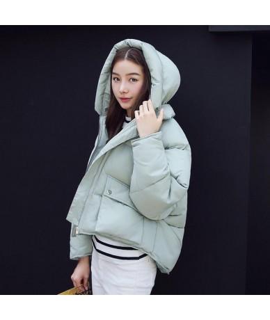 Winter Fashion Women Jackets Short Design Cute Cotton Padded Pink Coats Causual Warm Hoodies Loose Padded Parkas Casaco Femi...