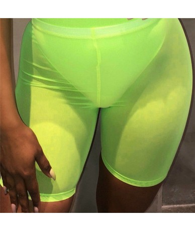 Womens Fishnet Mesh See Through Slim Fit Summer Active ShortS Active Short Hot Suits - as shown - 463068651126-1