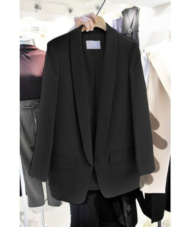 Ladies blazer casual white long-sleeved small suit Korean professional ladies jacket 2019 new autumn blouse - 2 - 4H41524857...