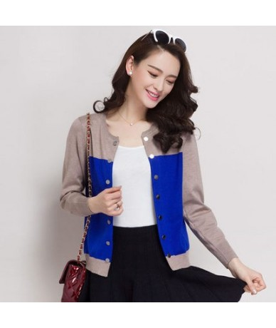 New 2016 black cardigan spring and autumn cardigan sweater female long-sleeve slim outerwear short design loose cape - Blue ...
