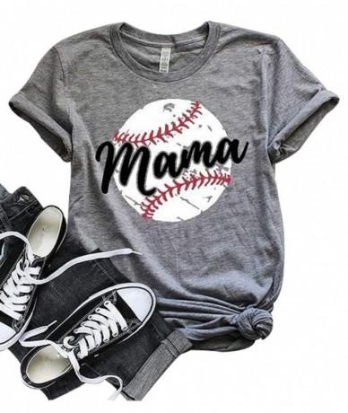 drop shipping Women Baseball Mom Mama Letter Print T Shirt Short Sleeve Tops Tee plus size t shirt for 2019 Casual women t s...