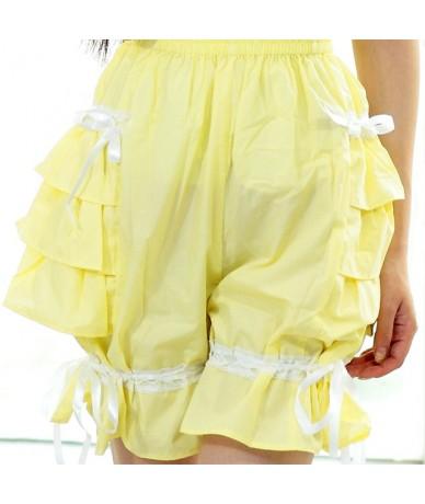 Sweet Layered Lolita Shorts/Cosplay Bloomers with Ruffles - YELLOW - 4N3801077437-7