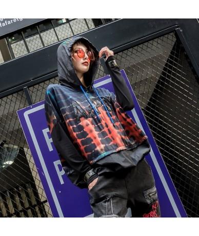 2019 Korean Fashion Style Streetwear Ladies Autumn Tops Tees Womens Hooded T Shirts Vintage Camouflage Tshirt Plus Size - Bl...