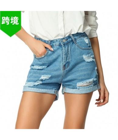 2019 Summer Denim Short Jeans Women Sexy High Waist Hole Ripped Shorts Fashion Casual Slim Plus Size Denim Shorts Harajuku -...
