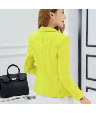 Ladies Blazer Long Sleeve Blaser Women Suit jacket Female Feminine Blazer Femme Pink Blue White Black Blazer Autumn - Light ...