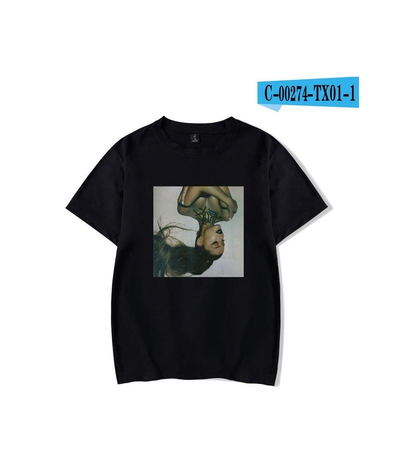 2019 new Ariana Grande Print Casual T-shirts Women Men Clothes 2019 Hot Sale Tops Short Sleeve Kpop T-Shirts Plus Size Custo...