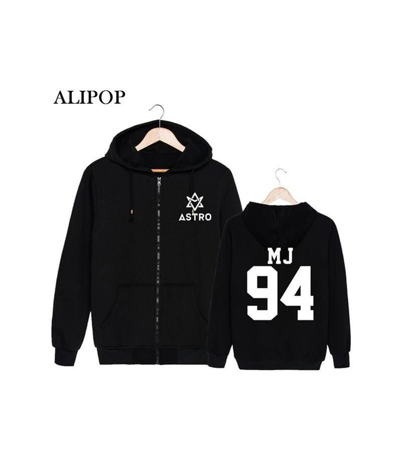 KPOP Korean Fashion ASTRO Spring Up 1st Mini Album 2nd Release Cotton Zipper Hoodies Clothes Zip-up Sweatshirts PT184 - MJ -...