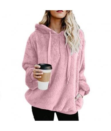 2018 Fashion Autumn Winter Long Sleeve Zipper Women Hooded Sweatshirt Plush Coat Keep Warm Fleece Casual Women's Outfit - Pi...