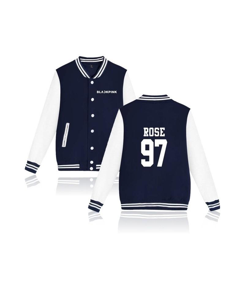 Kpop Blackpink Album Baseball Jacket Women/Men Fans Support Sweatshirt Member Name Print Hoodies Moletom Female 2018 - Navy ...