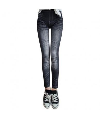 Fashion Women Snowflake Leggings Skinny Distressed Stretchy woman Jeans Pants Vintage Denim Pant Sexy Leggings - 15A - 4R306...