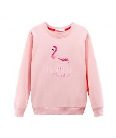2019 Fall/Winter New Fashion Women Sweatshirt Gray Flamingo 3D Printed Cartoon Plus Size Pullovers Vintage Sweatshirts - 4 -...