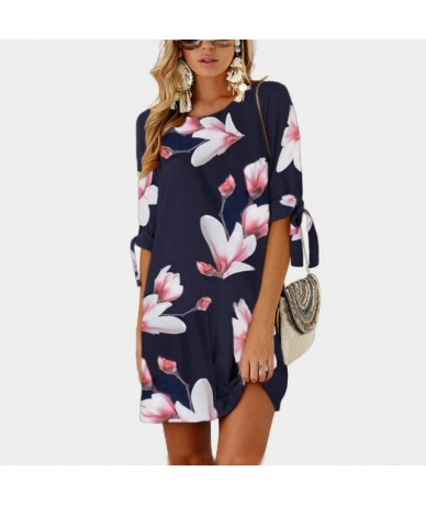 S-5XL Women Short Beach Casual Pencil Shirt Dress Female Summer New Print Loose Elegant Mini Party Big Size Plus Size Dresse...