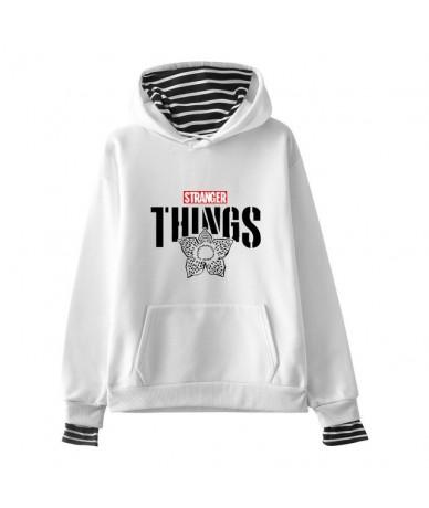 Stranger Things Design Fake Two Pieces Men Women Hoodies Hoody Sexy Sweatshirt Fleece Warm Streetwear Patchwork Unisex Cloth...