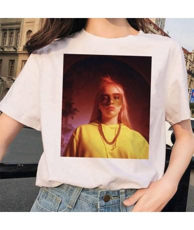 Billie Eilish t shirt ulzzang women female hip hop femme clothes tshirt funny harajuku summer Casual ulzzang t-shirt streetw...