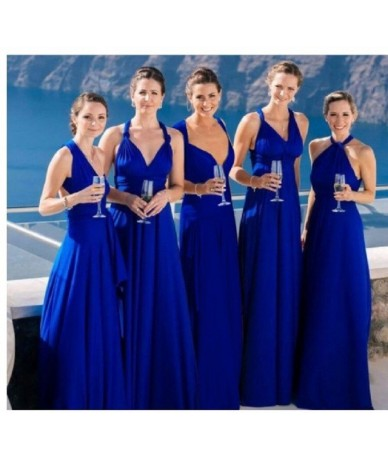 Ladies Sexy Women Maxi Club Dress Bandage Long Party Multiway Swing Dress Convertible Infinity Robe Bridesmaids Boho Women D...