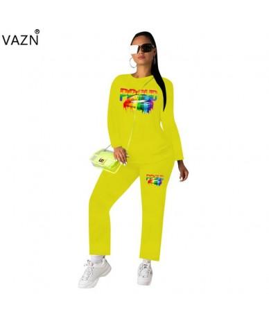 New Plus Size Nature Free Regular Tracksuits Young Casual Fashion Full Sleeve Chiffon Long Pants Women 2 Piece Set - Yellow ...