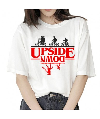 stranger things 3 t shirt Eleven 2019 women new tshirt hip hop 90s gothic female clothing femme streetwear kawaii Upside Dow...