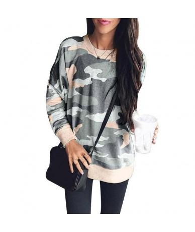 Camouflage Sweatshirt Women 2018 Autumn Winter Printed Pullover Fashion O-Neck Hoodies Sweatshirts Long Sleeve Casual Top La...