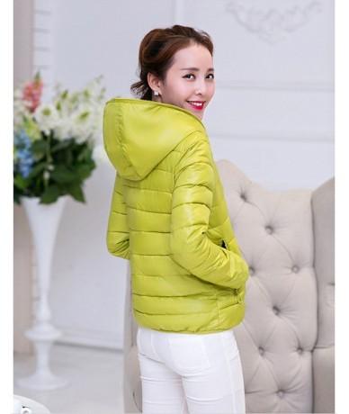 Double-sided Wear Cotton Jacket Women Short Korean Thin Winter Jacket Women Tops Heart Print Chaqueta Mujer Hooded Coat - Li...