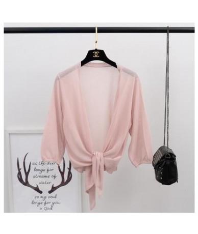Summer Autumn Women Thin Knitted Cardigans Coat Ice Silk Small Shawl Sweaters Jacket Female Loose Elegant Short Cardigan RH1...