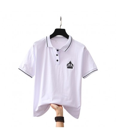 2019 Summer Fashion Polo Shirt Women New Casual Short Sleeve embroidered Loose Polos Shirts Tops Female Cotton Polo Shirt - ...