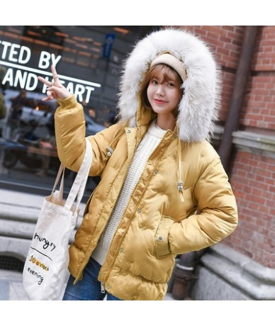 Women Jacket 2019 Winter Hooded Parka Collar Hood Jacket Female Short Jacket Solid Color Thick Warm Cotton Outerwear Jacket ...