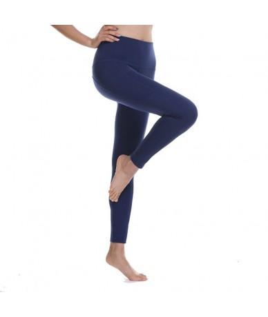 2019 women summer new arrivals fitness leggings female outdoor workout pants High waist Tummy Control pocket legging - blue ...