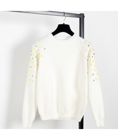 Autumn & Winter Fashion Thick Warm Pullover Sweater Computer Knitted Sequined Beading Women sueter mujer Celebrity C-013 - W...