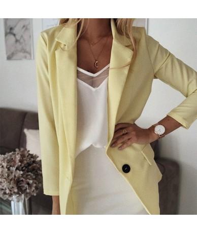 Plus Size 5XL Notched Women's Jacket Blazer Coat Solid Black Elegant Office Lady Outwear Autumn 2019 Long Sleeve Women Cloth...