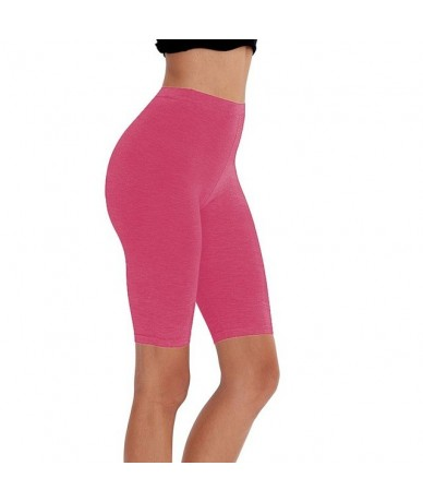 casual eco-friendly cotton spandex fitness running women shorts stretchy high waist cycling girl short M30292 - 1 pc - 4S414...