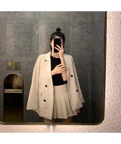 Elegant Women Office Suit Black Blazer Set Women Plus Size Two Piece Set Jacket Blazer + Pleated Skirt OL Work Female Tracks...