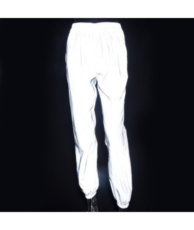 Women Casual Harem Sweatpants Shine Hip Hop Reflective Pants Fashion 2019 Female Loose Dancing Trousers Plus Size Pantalon F...