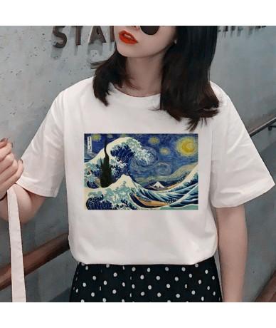 Harajuku Van Gogh Grunge T Shirt Women Aesthetic Oil Paint Print T-shirt 90s Graphic Funny Tshirt Fashion Casual Top Tees Fe...