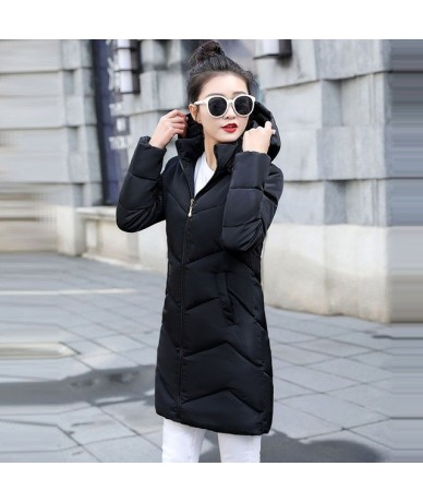 New 2019 Winter Jacket women Plus Size Womens Parkas Thicken Outerwear hooded Winter Coats Female Slim Jacket Warm basic top...