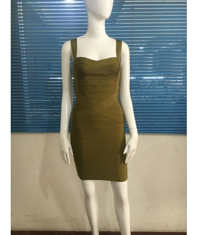best sellers olive baby blue orange yellow green purple navy blue white black nude Bandage Dress Dress + suit - White - 4X38...