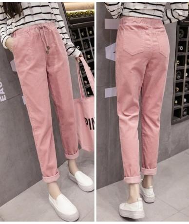 S-5XL Women Pants Drawstring Ankle-Length trousers Pocket High Waist Harem Pants Warm Well Autumn Winter Pants 5 Colors - Pi...