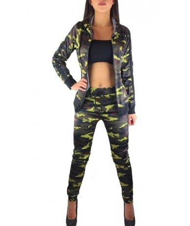 2 Pieces Women Set Camouflage Training Suit Fitness Trousers Jacket Women Outfits Hoodie Top And Pant Tracksuit Women Sets -...