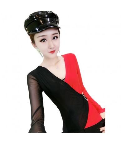 Korean Tshirt 2019 New Autumn Winter Women Long Sleeve Leopard Print Patchwork Color Blocking Top Shirt Camiseta Mujer T9851...