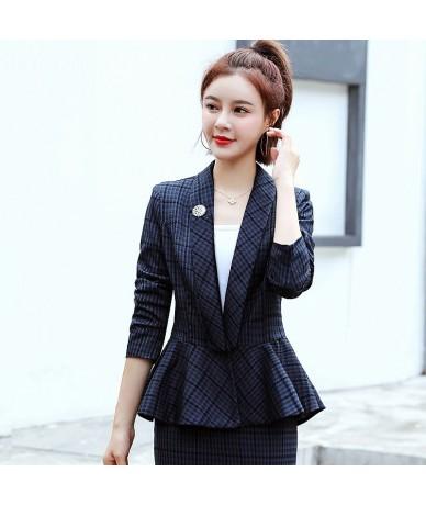 2019 autumn new suit plaid jacket female short section slim suit long sleeves women blazer fashion clothing women coat - 5Q1...