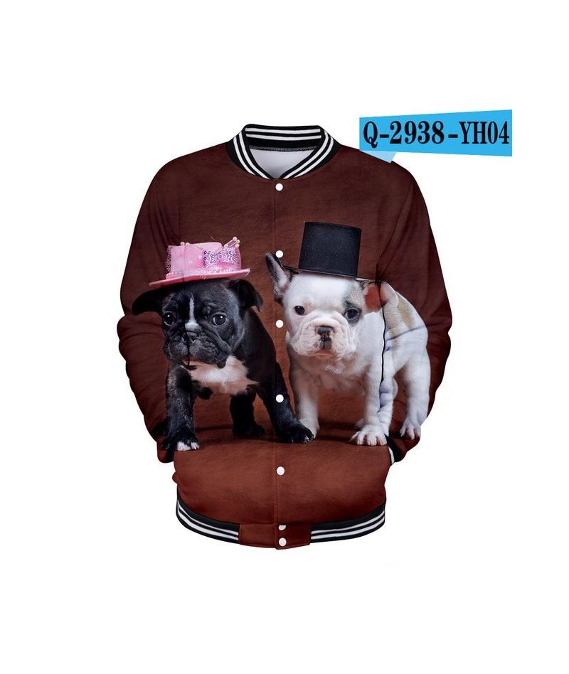 French Bulldog 3D Harajuku hoodies Sweatshirts Women/men Winter Casual Baseball jacket Modis Kpop Plus Size XXXXL k-pop clot...