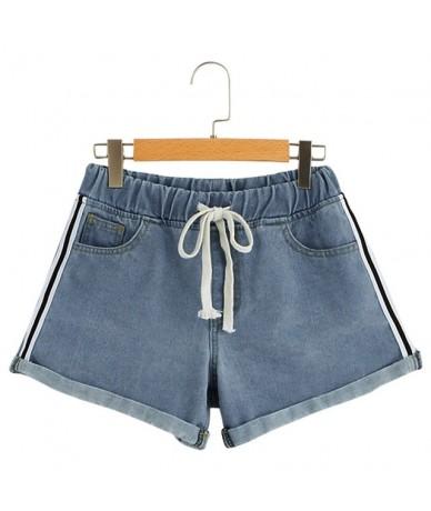 Fashion джинсы женские Womens Band Crimping Pocket Mid Waist Casual Denim Jeans Elastic waist curled casual denim shorts new...