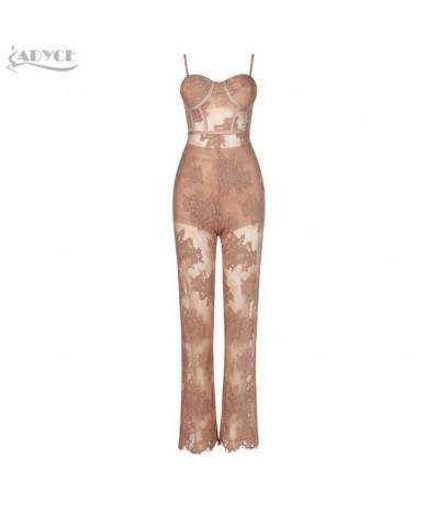 2019 New Summer Women Runway Bandage Jumpsuit Rompers Elegant Lace Spaghetti Strap Jumpsuit Sexy Bodysuit Vestido Clubwear -...